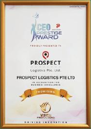 Prospect Logistics CEO Prestige Award